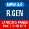 RGen Landing Page with Page Builder